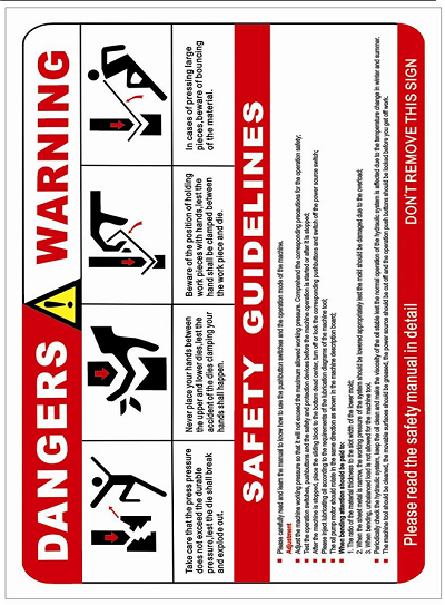 Warning Label and Safety Guidelines