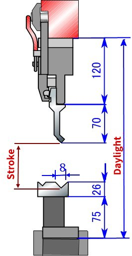 How to Calculate Press Brake Stroke Length