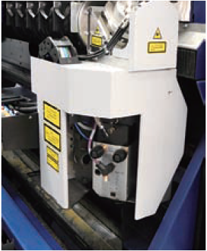 The upper and lower movement of the z-axis section cutting head is driven by the synchronous belt.