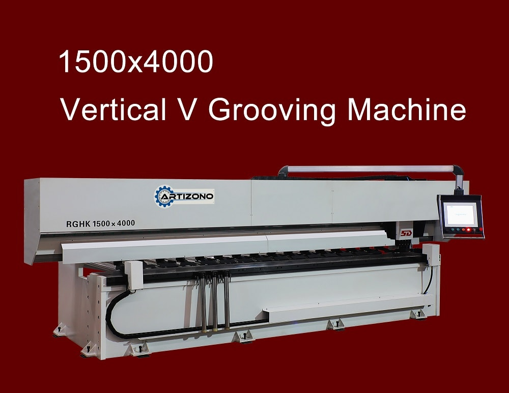 RGHK-1500x4000 Vertical CNC V Grooving Machine