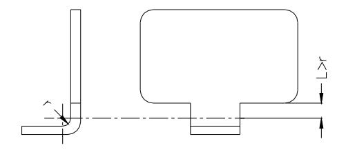 Figure 1-37 The bend zone should avoid the location of the sudden change of the part