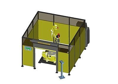 Safety Protection Method for Robot Arc Welding Station