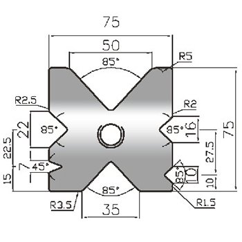 Newton Type Press Brake Lower Tools