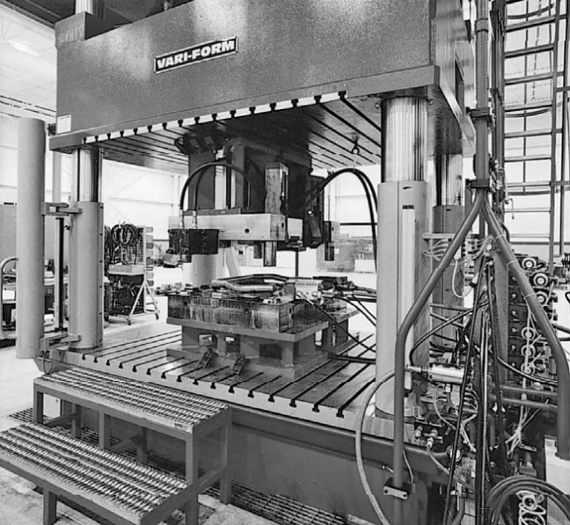 View of the tube-hydroforming press
