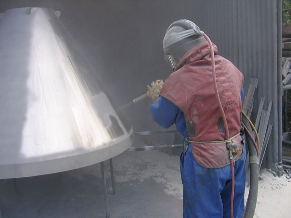 Stainless Steel Sandblast Cleaning