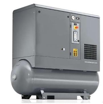 Air compressor, gas storage tank