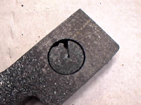 Carbon steel cutting defects