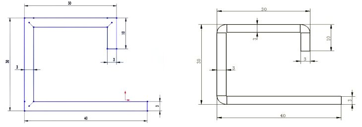 Calculation of Sheet Metal Unfolding Length After Grooving