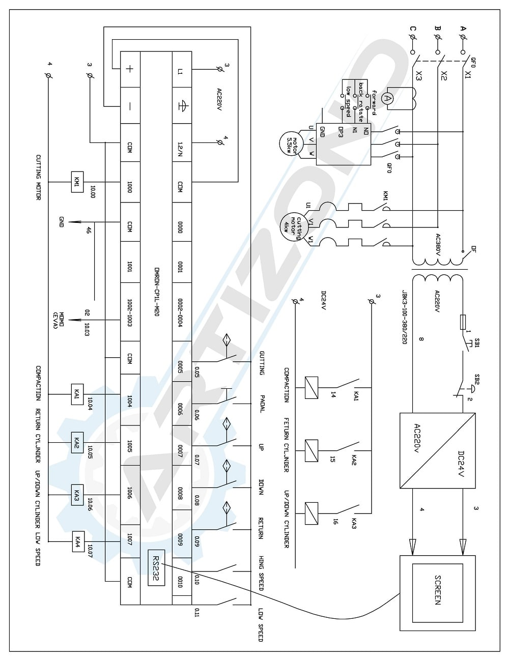 Wiring Diagram of Spiral Duct Machine