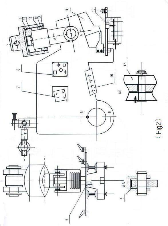 Hydraulic Ironworker Section Cutting Station Drawing