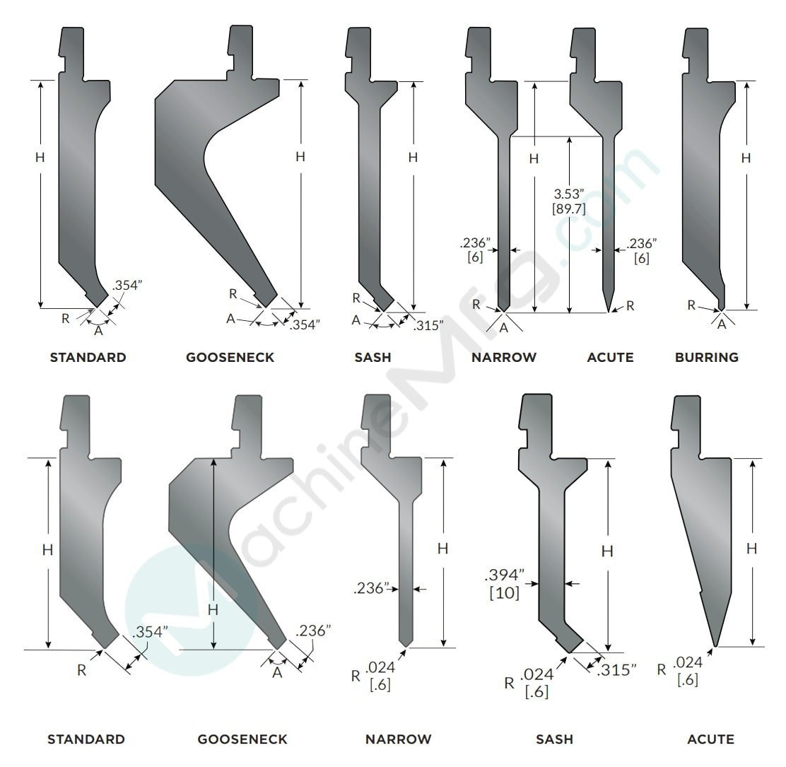 Press Brake Dies Drawings