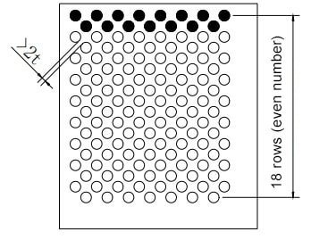 Figure 1-2 Schematic diagram of misalignment of dense holes