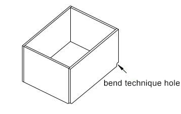 Figure 1-35 Bending corner process hole