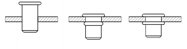 Figure 1-44 Schematic diagram of the pull riveting process