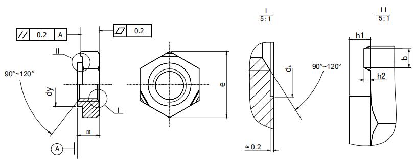 Figure 1-47 Welding hex nut structure type