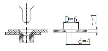 Figure 1-57 Countersunk head screw connection