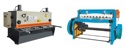 Shearing machine cutting