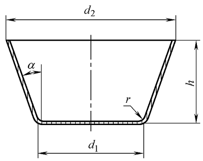 Deep drawing of conical parts