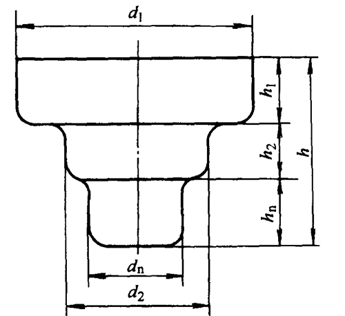 Deep drawing of stepped cylindrical parts