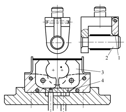 One-time bending forming die for circular piece with swing die