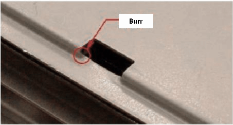 have narrow holes in the turn between the flat surface and the bending surface