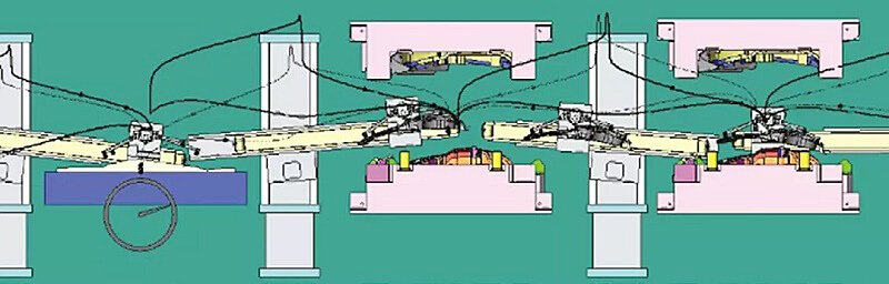 Schematic diagram of automatic stamping production line