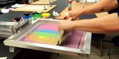 Screen printing of other products