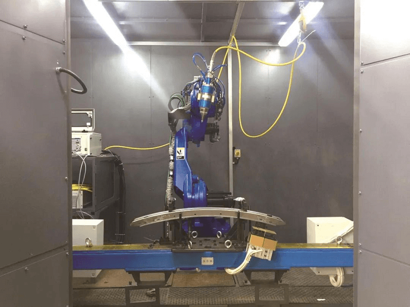 Laser cutting robot workstation