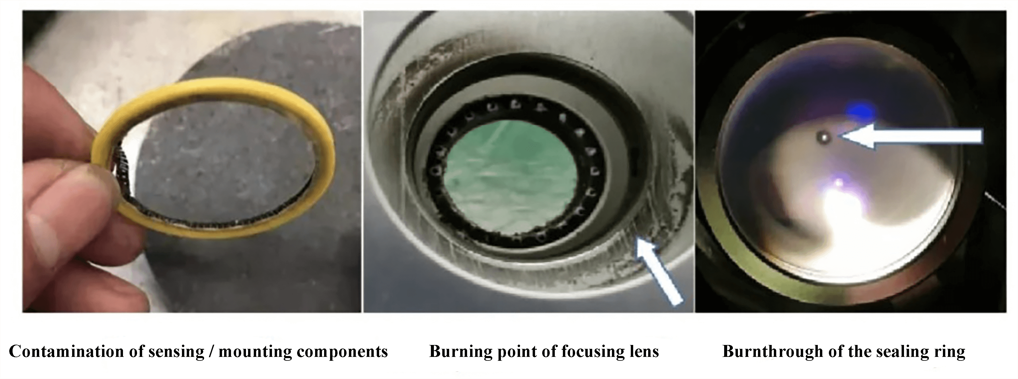 Fig. 4 Burning point of focusing lens